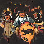 Native American - Red Star Kevin Bear Medicines Victory Dance
