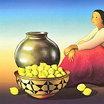 Native American - Gorman RC Woman with Lemons