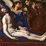 Alessandro Allori - An Angel showing St. Francis of Assisi the body of Christ removed from the Cross