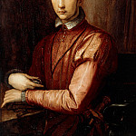 Alessandro Allori - Portrait of Francesco I d'Medici (1541-1587) seated half-length, wearing a Doublet