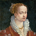 Alessandro Allori - Portrait of Bianca Cappello (c.1542-87) Wife of Francesco de Medici, Grand Duke of Tuscany