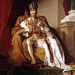 Friedrich Von Amerling - Portrait of Austrian Emperor Francis II wearing the Austrians imperial robes 260 x 164 cm 10236 x 6457 in Schatzkammer belongs to Kunsthistorisches Museum Vienna