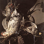 Willem Van Aelst - Still Life Of Dead Birds And Hunting Weapons