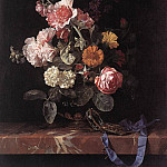 Willem Van Aelst - Vase Of Flowers With Watch