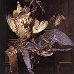 Willem Van Aelst - Still Life With Hunting Equipment And Dead Birds