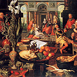 Pieter Aertsen (Lange Pier) - Christ in house Marha and Maria