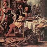 Pieter Aertsen (Lange Pier) - Peasants By The Hearth