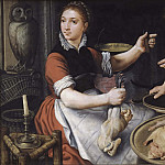 Pieter Aertsen (Lange Pier) - Two Women Cooking