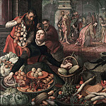 Pieter Aertsen (Lange Pier) - Christ and the Woman taken in Adultery