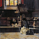 Bernardo Bellotto - Inside the sacristy with monks