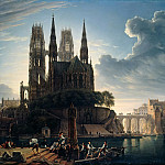 Eduard Karl Gustav Lebrecht Pistorius - Gothic Catherdral on the Water