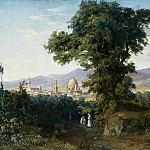 Julius Hübner - View of Florence