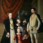 Giuseppe Arcimboldo - Emperor Maximilian II (1527-1576), his wife Maria of Spain, and his children Anna, Rudolf and Ernst