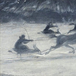 Sleighing on the Ice. Illustration for a Short Story by Per Hallström, H Tom Hall