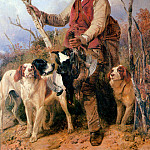 Richard Ansdell - Gamekeeper with dogs Sun