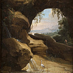 Landscape with views through the cave