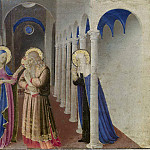 Fra Angelico - Cortona Altarpiece - Annunciation, predella - Adoration of the Magi, The Presentation of Christ in the Temple
