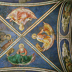 View of the chapel vaulting, Fra Angelico