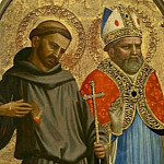 Saint Francis and a Bishop Saint, Fra Angelico