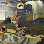 Perugia Altarpiece, predella - St Nicholas saves the ship