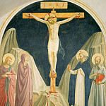 04 Christ on the Cross with the Virgin and Saints John the Evangelist, Dominic, and Jerome, Fra Angelico