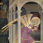 Fra Angelico - Cortona Altarpiece - Annunciation, detail