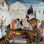 San Marco altarpiece, predella – Burial of Saints Cosmas and Damian, Fra Angelico
