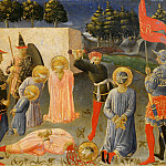 Fra Angelico - Annalena Altarpiece, predella - Saints Cosmas and Damian, Decapitation