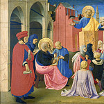 Linaioli Tabernacle, predella – St Peter Preaching in the Presence of St Mark, Fra Angelico