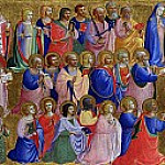 Fra Angelico - San Domenico Altarpiece - The Virgin Mary with the Apostles and Other Saints