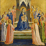 Fra Angelico - Enthroned Madonna with child and twelve angels