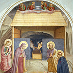 05 Birth of Christ, with the Saints Catherine of Alexandria and Peter the Martyr, Fra Angelico