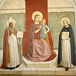 11 Mary with Child and Saints Augustinus and Thomas of Aquin, Fra Angelico