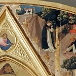 St Peter Martyr Altarpiece, detail – The murder of St. Peter Martyr, Fra Angelico