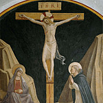 Fra Angelico - 30 Crucifixion of Christ with Mary and St. Dominic