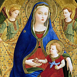 Fra Angelico - Madonna with the Child and two angels or Madonna of the pomegranate