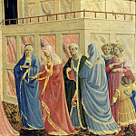 Coronation of the Virgin, predella – The Marriage of the Virgin, Fra Angelico