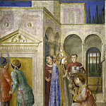 Fra Angelico - St. Sixtus Entrusts the Church Treasures to Lawrence