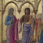 Fra Angelico - 2 Cortona Polyptych, detail - Sts John the Baptist and John the Evangelist