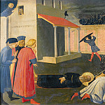 Linaioli Tabernacle, predella – The Martyrdom of St Mark, Fra Angelico