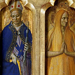 Perugia Altarpiece – St Louis of Toulouse and Mary of Egypt, Fra Angelico