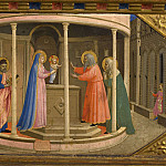 Fra Angelico - The Annunciation Altarpiece, predella 4 - Bringing to the temple