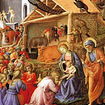 Fra Angelico - The Adoration of the Magi (finished by Filippo Lippi)