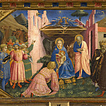 Fra Angelico - The Annunciation Altarpiece, predella 3 - Adoration of the Magi