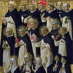 San Domenico Altarpiece – The Dominican Blessed, Fra Angelico