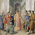 St Lawrence Distributing Alms, Fra Angelico