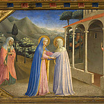 The Annunciation Altarpiece, predella 2 – Visitation, Fra Angelico