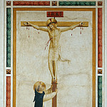 Fra Angelico - Saint Dominic Adoring Christ on the Cross
