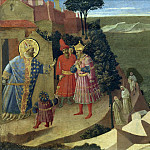 The meeting of St. Romuald with Otto III, Fra Angelico
