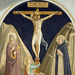 25 Christ on the cross, with Mary, Mary Magdalene and Saint Dominic, Fra Angelico